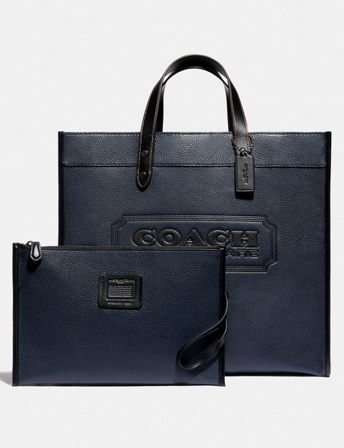 Coach Field Tote 40 With Coach Badge Ji/Midnight Navy Men Bags Totes & Duffles Alternate View 4