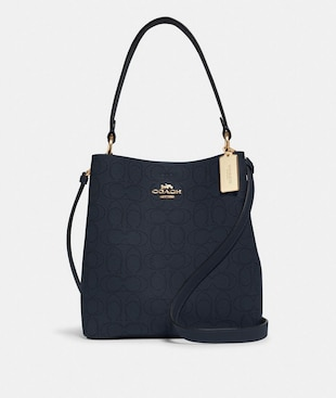 TOWN BUCKET BAG IN SIGNATURE LEATHER
