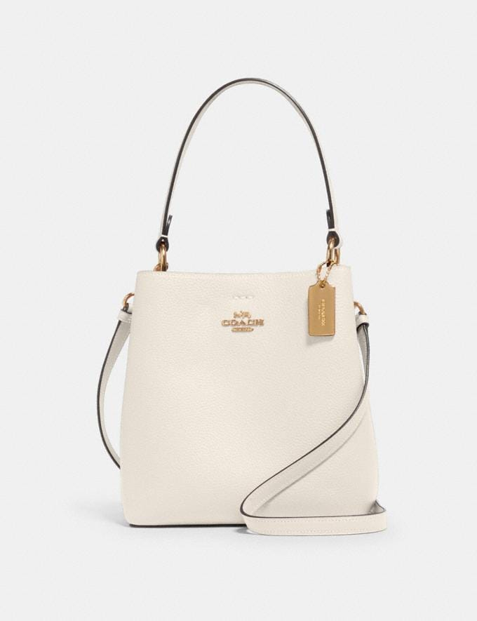 Coach Small Town Bucket Bag Im/Chalk Light Saddle Deals Just Reduced