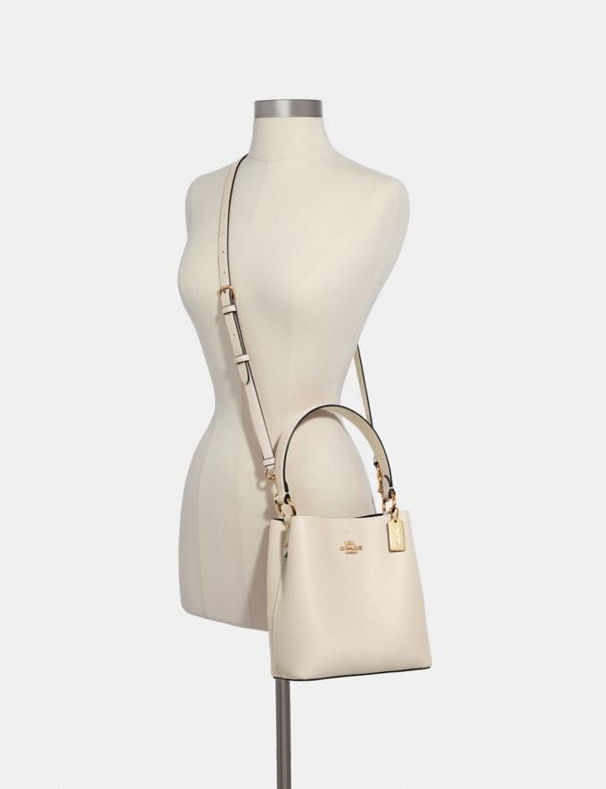 Coach Small Town Bucket Bag Im/Chalk Light Saddle Deals Just Reduced Alternate View 2