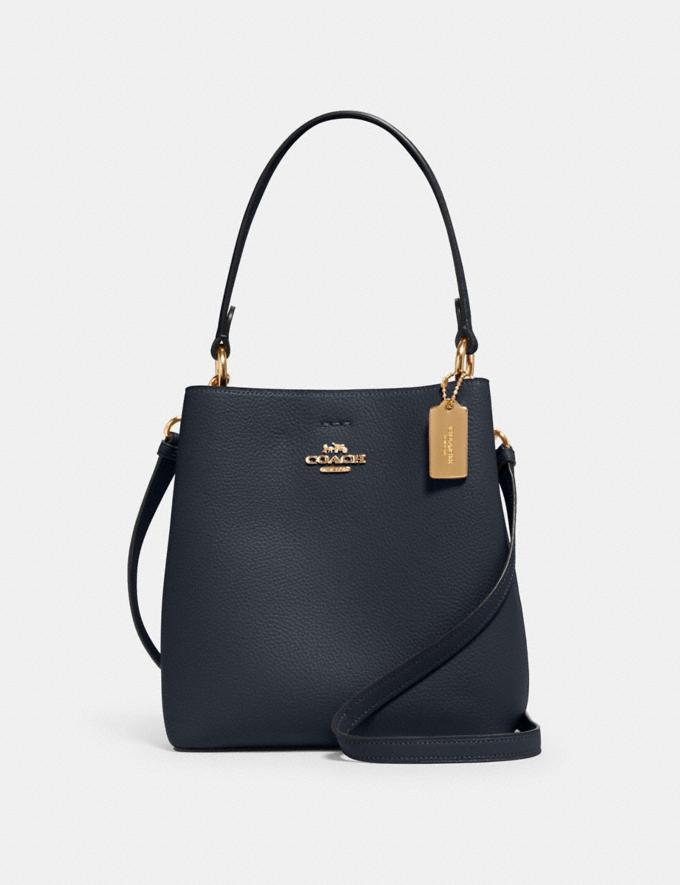 Coach Small Town Bucket Bag Im/Midnight Oxblood