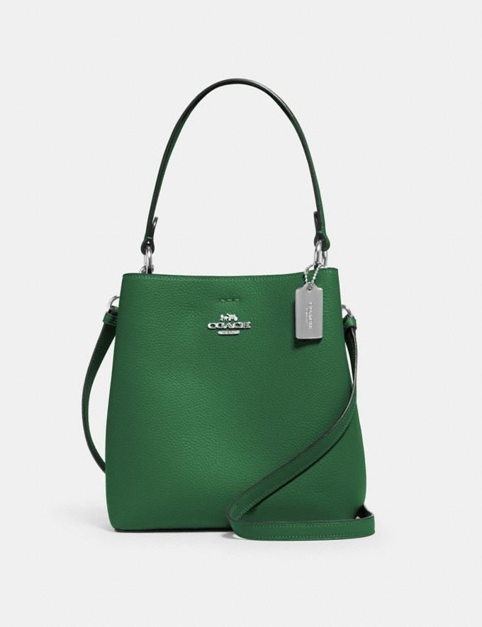 Coach Small Town Bucket Bag Sv/Shamrock Midnight What's New