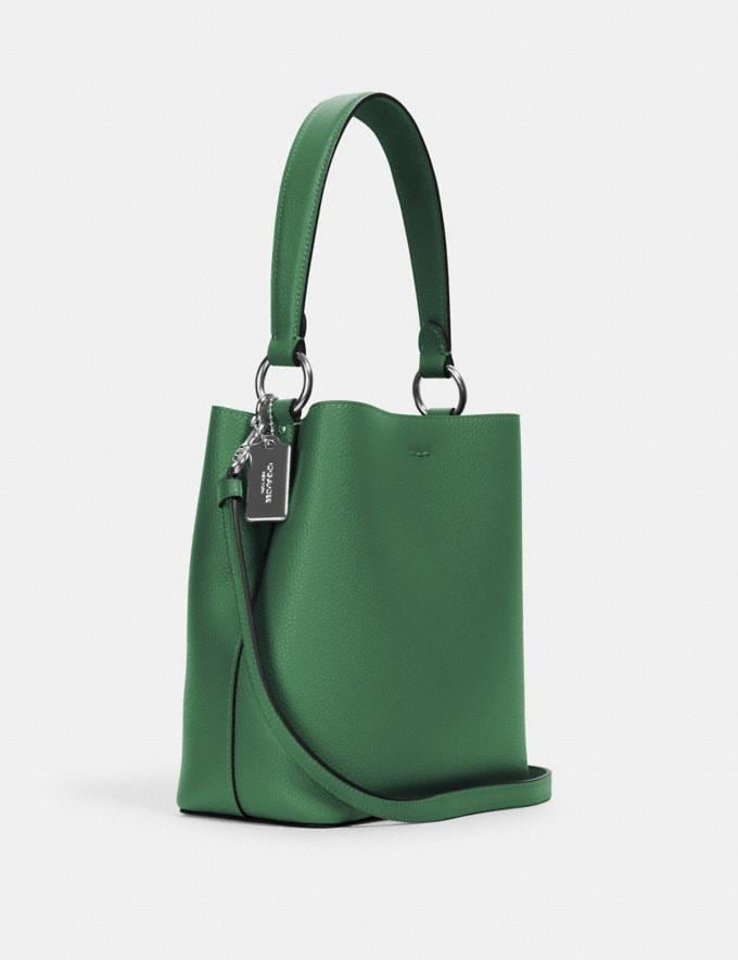 Coach Small Town Bucket Bag Sv/Shamrock Midnight What's New Alternate View 1