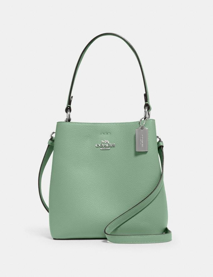 Coach Small Town Bucket Bag Sv/Washed Green/Amazon Green DEFAULT_CATEGORY