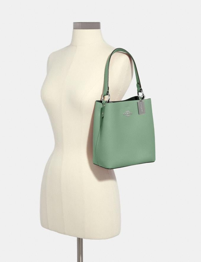 Coach Small Town Bucket Bag Sv/Washed Green/Amazon Green DEFAULT_CATEGORY Alternate View 2