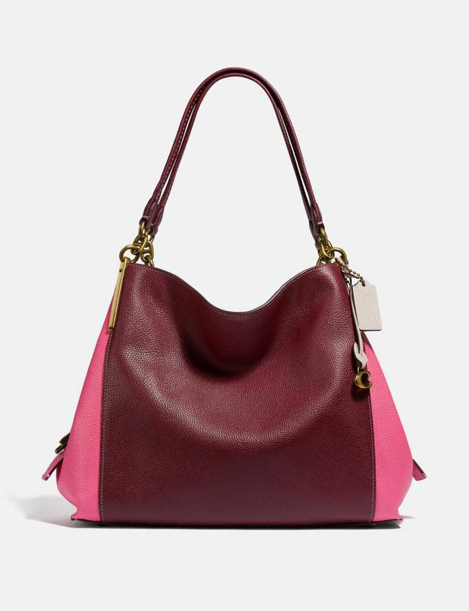 Coach Dalton 31 in Colorblock B4/Wine Multi Women Bags Shoulder Bags