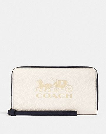 large phone wallet in colorblock