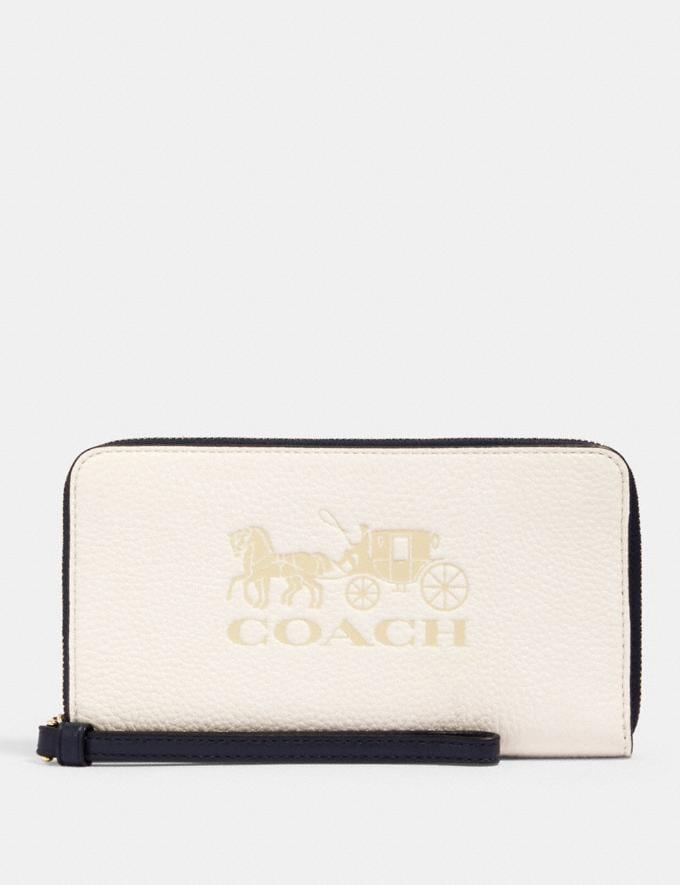 Coach Large Phone Wallet In Colorblock