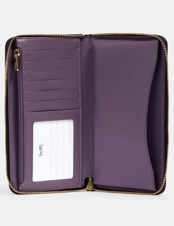Coach Large Phone Wallet in Colorblock Im/Chalk Multi  Alternate View 1