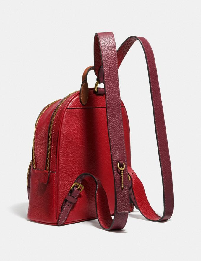Coach Carrie Backpack in Colorblock Brass/Red Apple Multi Women Bags Backpacks Alternate View 1