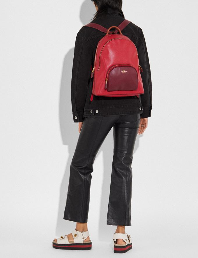 Coach Carrie Backpack in Colorblock Brass/Red Apple Multi Women Bags Backpacks Alternate View 3