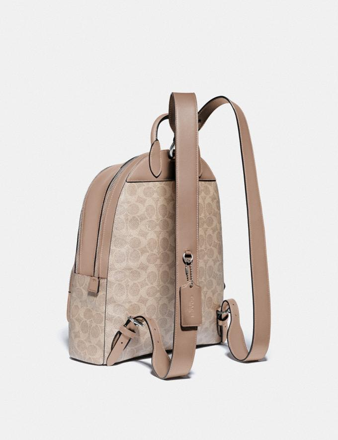 Coach Carrie Backpack in Signature Canvas Lh/Sand Taupe Women Bags Backpacks Alternate View 1