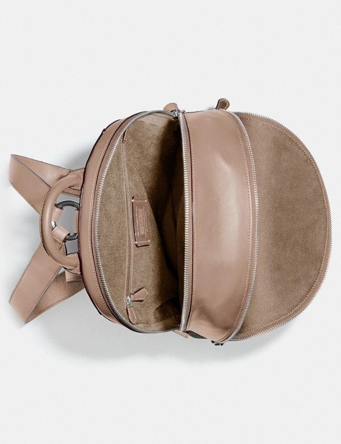 Coach Carrie Backpack in Signature Canvas Lh/Sand Taupe Women Bags Backpacks Alternate View 2