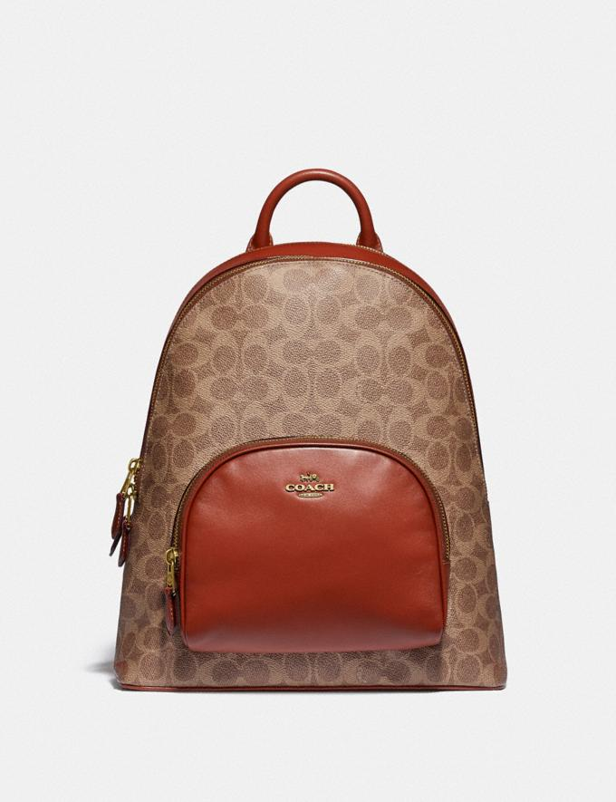 Coach Carrie Backpack in Signature Canvas B4/Tan Rust Damen Taschen Rucksäcke