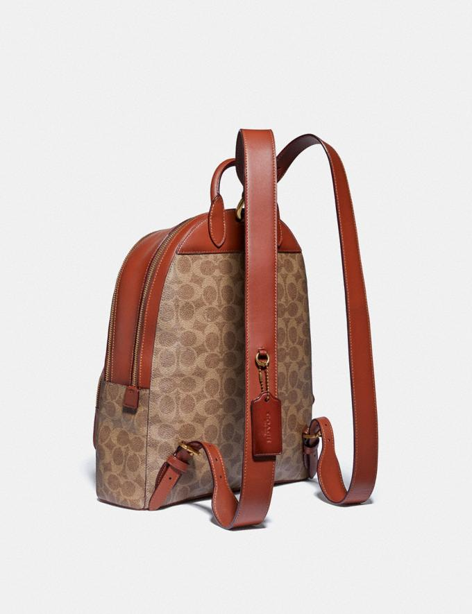 Coach Carrie Backpack in Signature Canvas B4/Tan Rust Women Bags Backpacks Alternate View 1