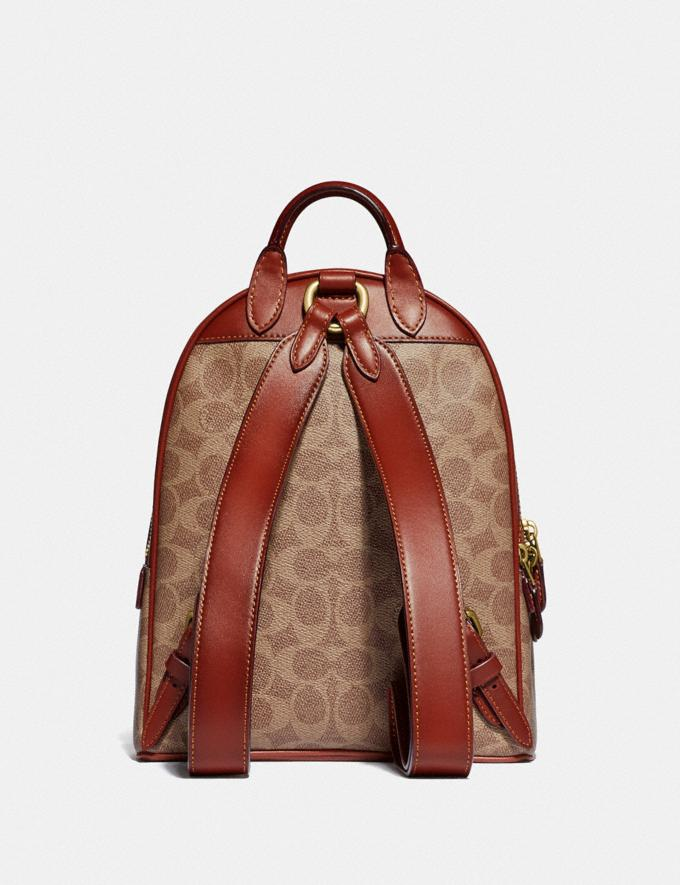 Coach Carrie Backpack 23 in Signature Canvas Brass/Tan Rust Women Bags Backpacks Alternate View 2