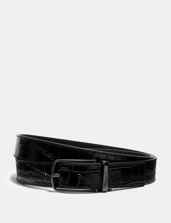 Coach Skinny Buckle Cut-To-Size Reversible Dress Belt, 32mm Qb/Black Deals Holiday Preview: 70% Off
