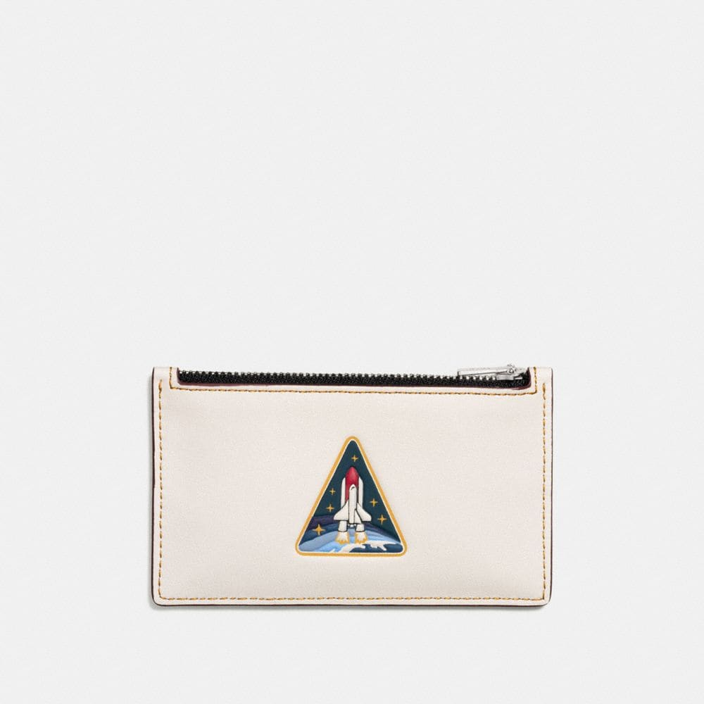 ZIP CARD CASE WITH ROCKET EARTH
