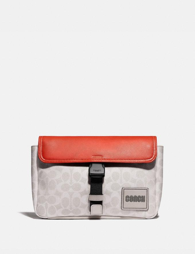 Coach Pacer Belt Bag in Signature Canvas With Coach Patch Ji/Chalk/Mango SALE null null Limited-Time Deals