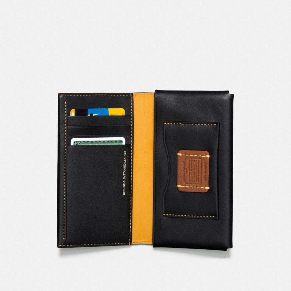 Coach Phone Wallet With Embossed Space Alternate View 1