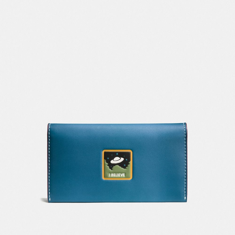 Coach Phone Wallet With Ufo Believe