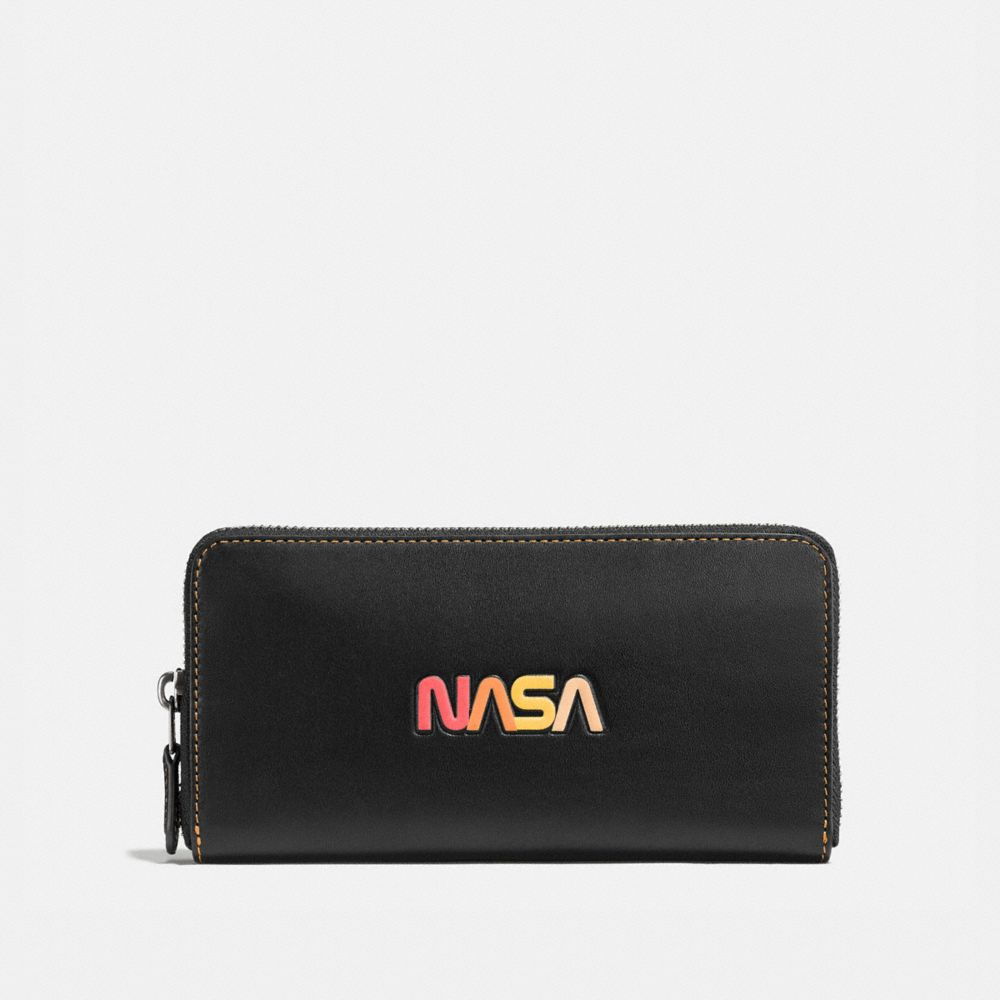 Coach Accordion Wallet With Embossed Space