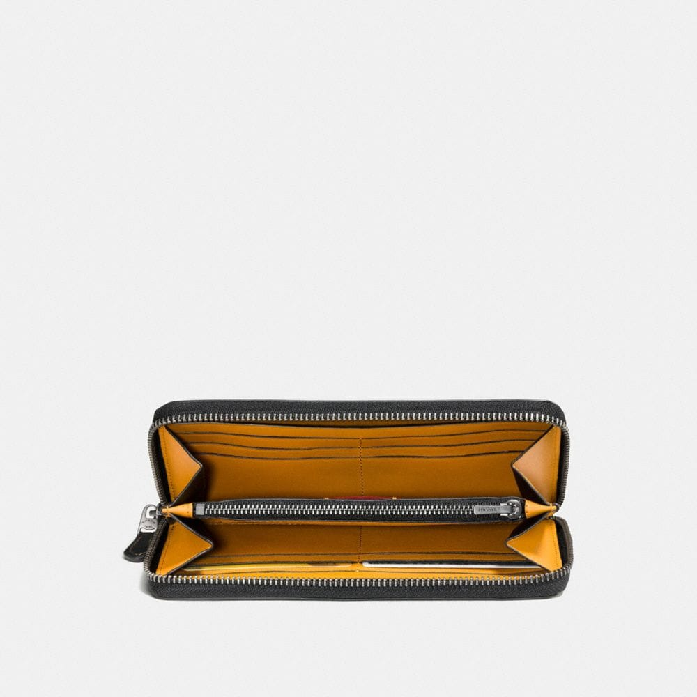 Coach Accordion Wallet With Embossed Space Alternate View 1