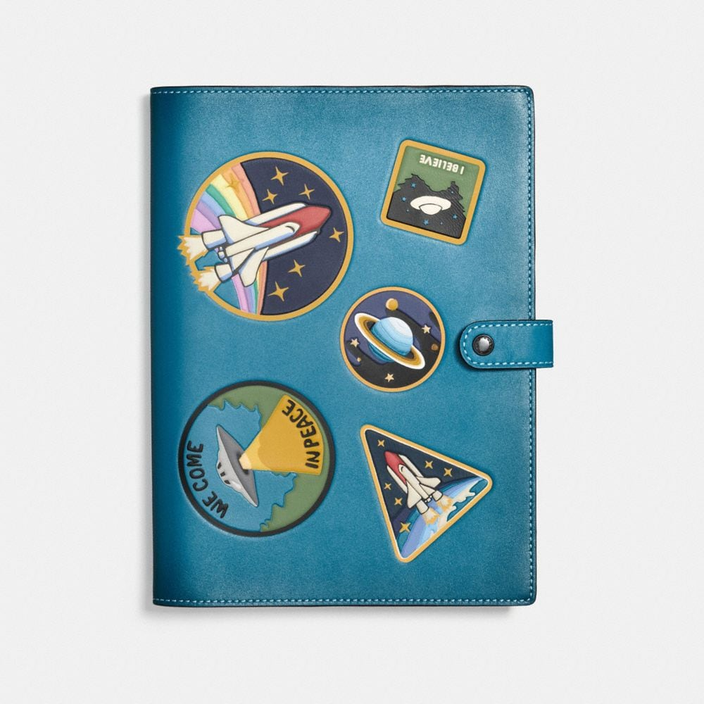 SKETCHBOOK IN GLOVETANNED LEATHER WITH SPACE MULTI