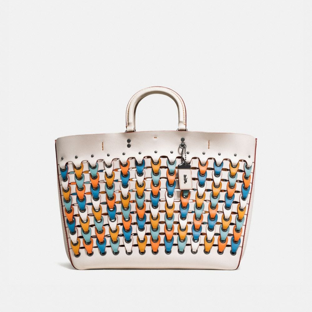 ROGUE TOTE WITH COLORBLOCK COACH LINK