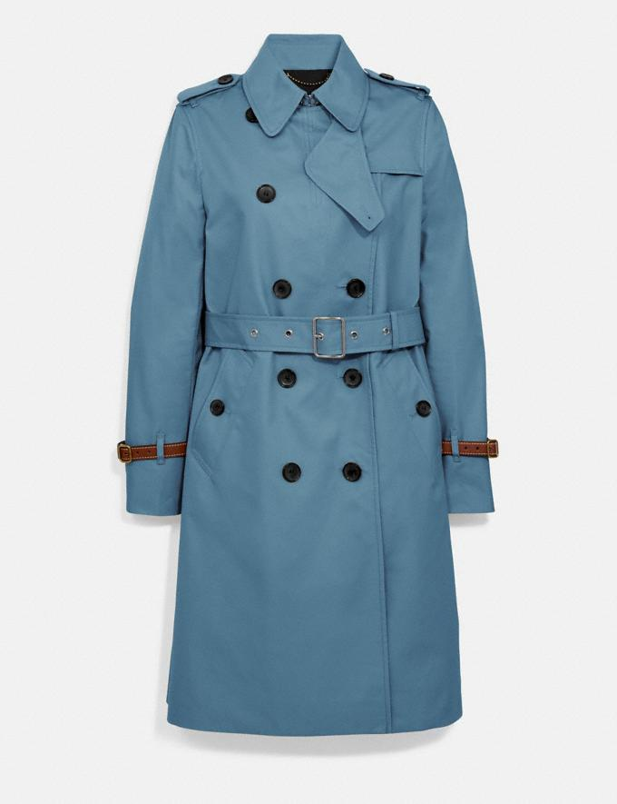 Coach Trench Coat Chambray New Women's New Arrivals Ready-to-Wear