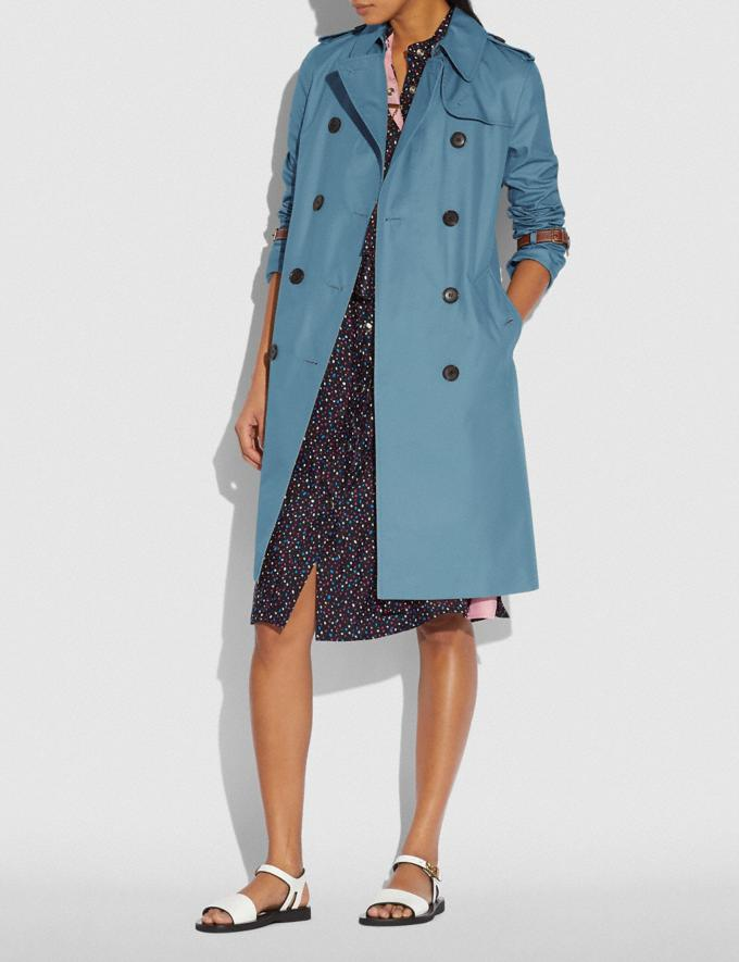 Coach Trench Coat Chambray New Women's New Arrivals Ready-to-Wear Alternate View 1