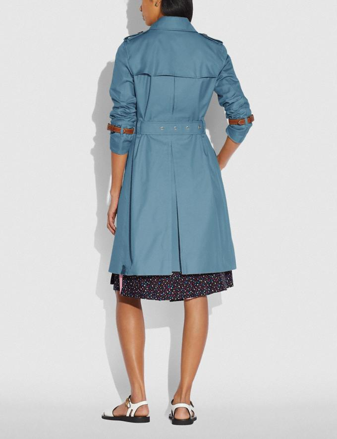 Coach Trench Coat Chambray New Women's New Arrivals Ready-to-Wear Alternate View 2