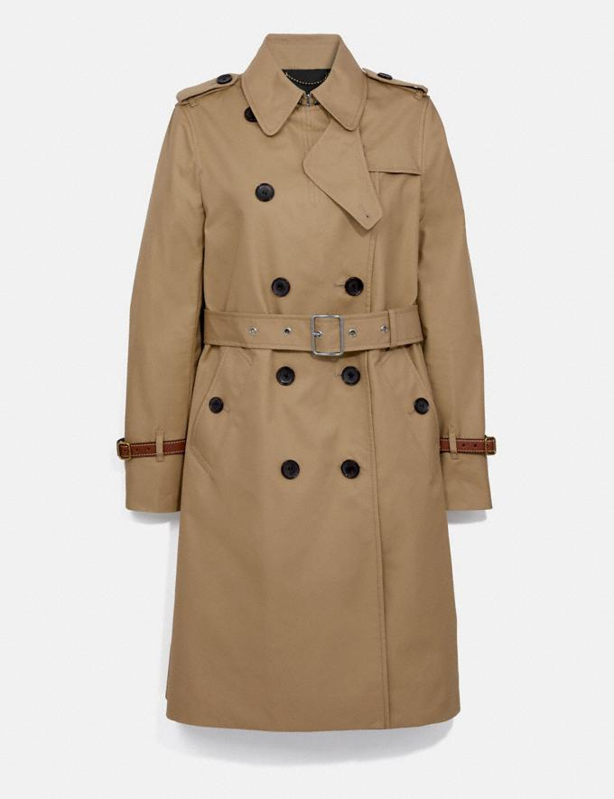 Coach Trench Coat Khaki Women Ready-to-Wear Coats & Jackets