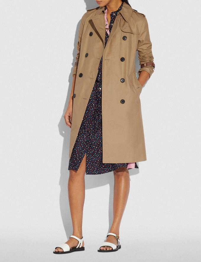 Coach Trench Coat Khaki New Women's New Arrivals Ready-to-Wear Alternate View 1