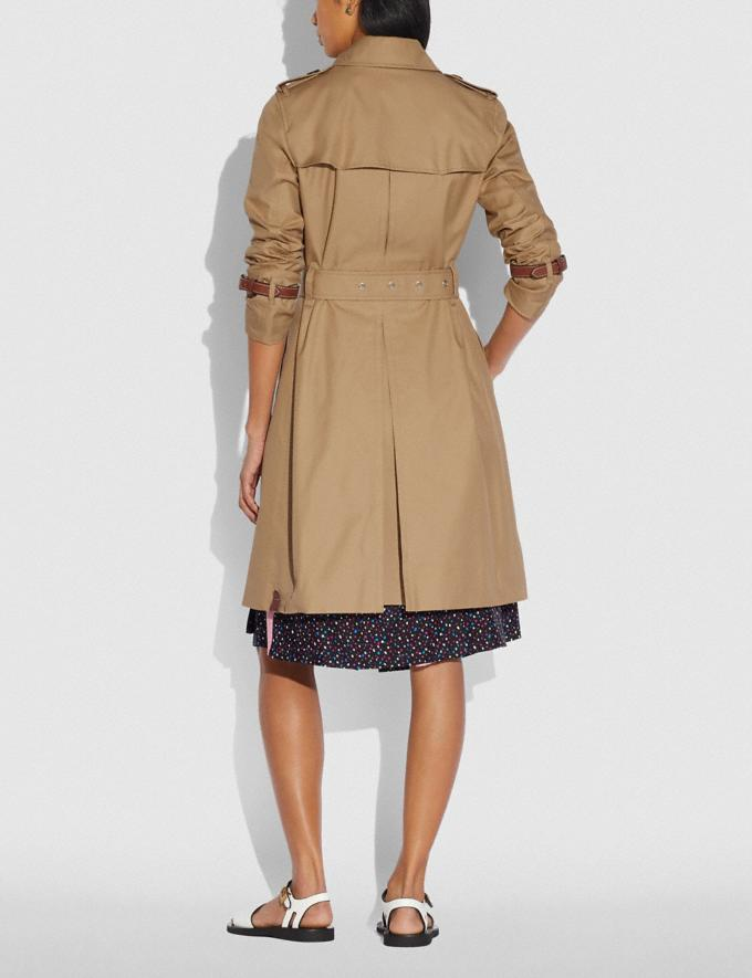 Coach Trench Coat Khaki Women Ready-to-Wear Coats & Jackets Alternate View 2