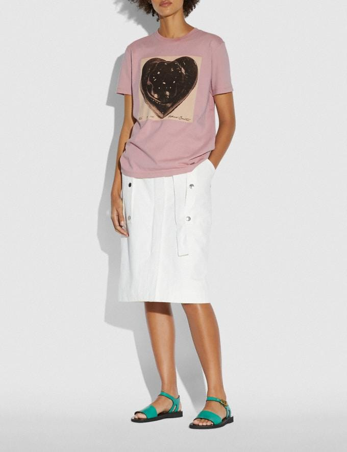 Coach Coach X Richard Bernstein Black Jello Heart T-Shirt Baby Pink New Women's New Arrivals Ready-to-Wear Alternate View 1