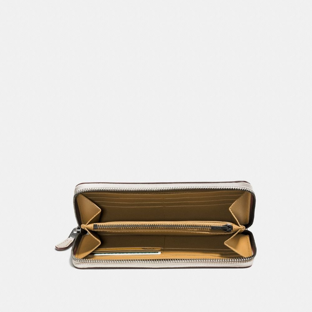 Coach Accordion Zip Wallet With Colorblock Coach Link Alternate View 1