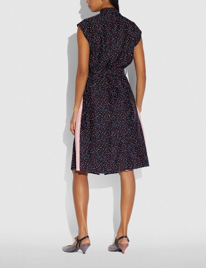 Coach Dot Sleeveless Dress With Belt Black/Blue Women Ready-to-Wear Dresses Alternate View 2