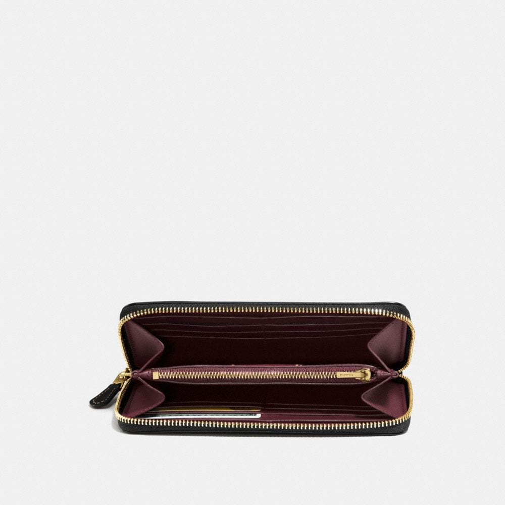 Coach Accordion Zip Wallet With Coach Link Alternate View 1