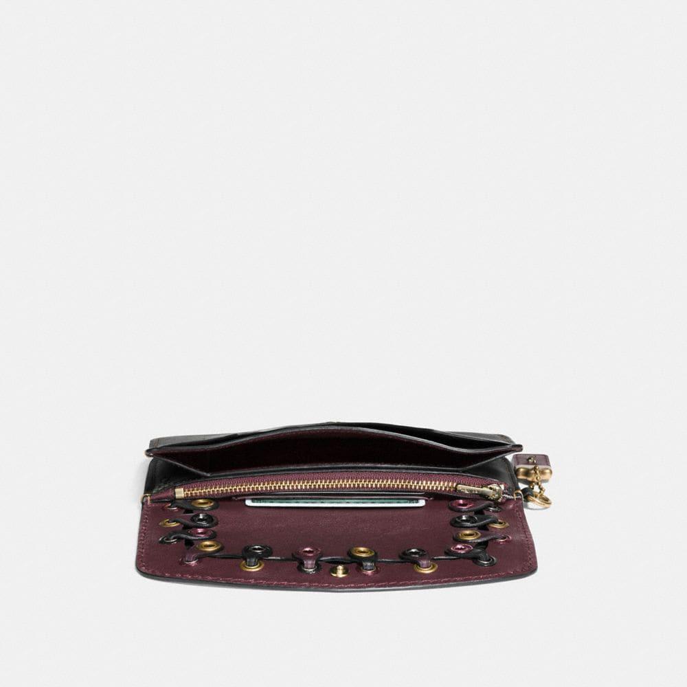 Clutch in Coach Link Glovetanned Leather - Alternate View A1