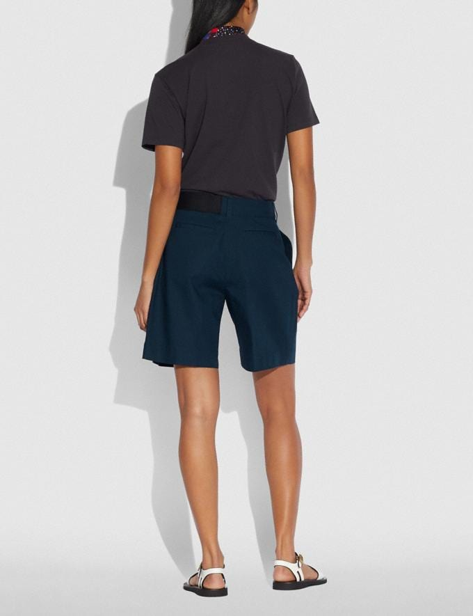 Coach Belted Shorts Navy New Women's New Arrivals Ready-to-Wear Alternate View 2