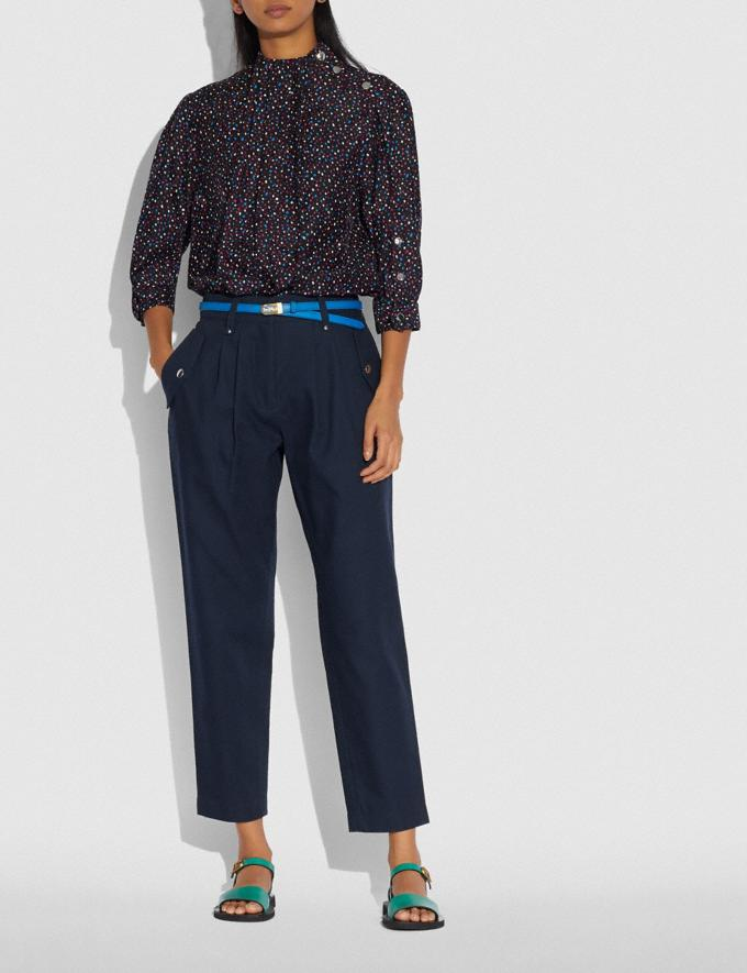 Coach Pleated Trousers Navy  Alternate View 1