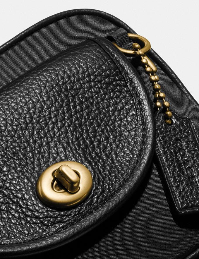 Coach Cargo Belt Bag Brass/Black Women Handbags Belt Bags Alternate View 4