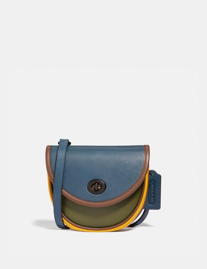 Coach Turnlock Convertible Crossbody in Colorblock Charcoal/Multi Men Bags Messenger & Crossbody