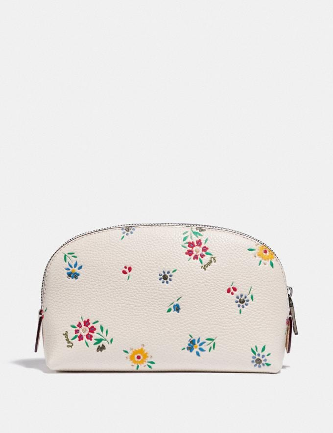 Coach Cosmetic Case 17 With Wildflower Print Pewter/Chalk New Women's New Arrivals Accessories Alternate View 1
