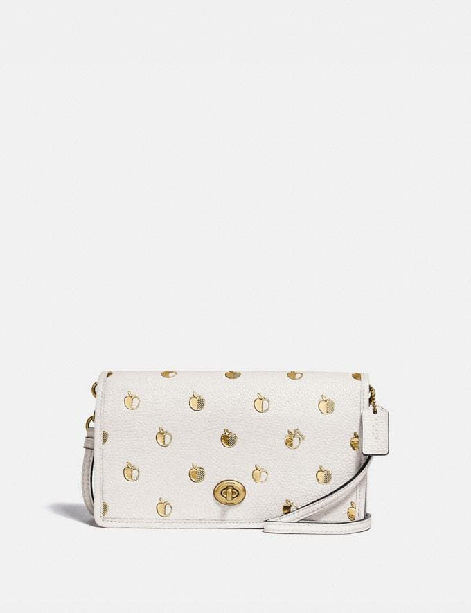 Coach Hayden Foldover Crossbody With Apple Print Brass/Chalk Multi Gifts For Her Under $300