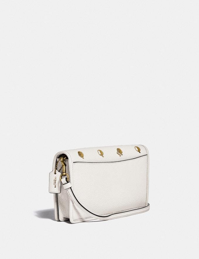 Coach Hayden Foldover Crossbody With Apple Print Brass/Chalk Multi New Women's New Arrivals View All Alternate View 1