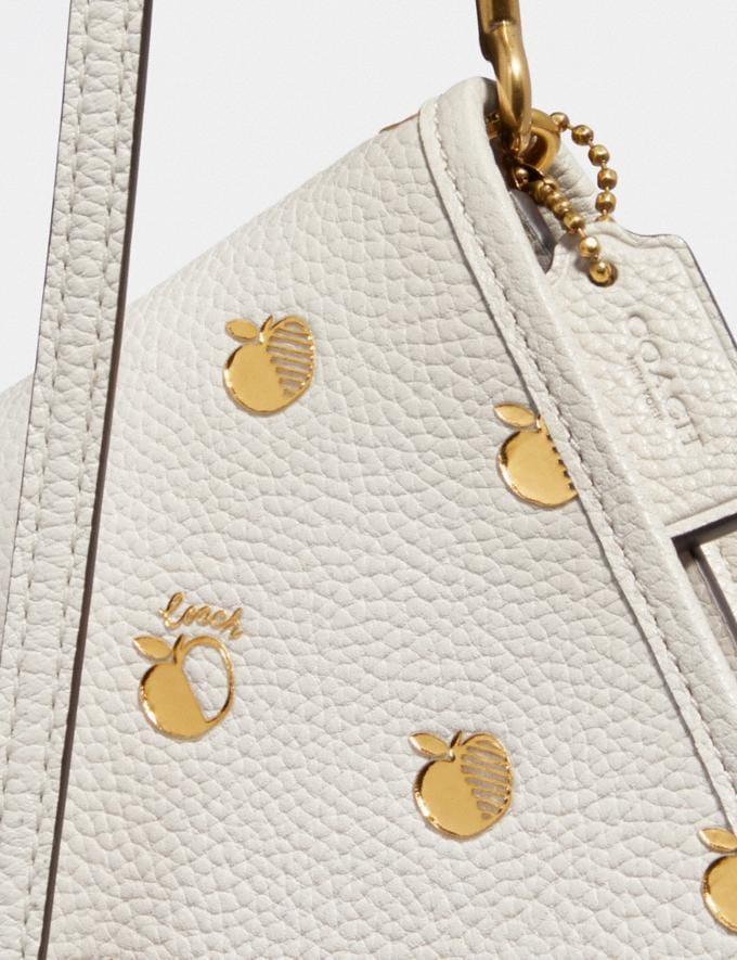 Coach Hayden Foldover Crossbody With Apple Print Brass/Chalk Multi Women Handbags Alternate View 3