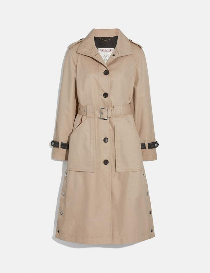 Coach Trench With Side Snaps Bone Women Ready-to-Wear Coats & Jackets