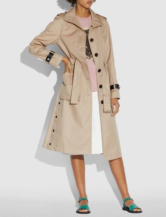 Coach Trench With Side Snaps Bone Women Ready-to-Wear Coats & Jackets Alternate View 1